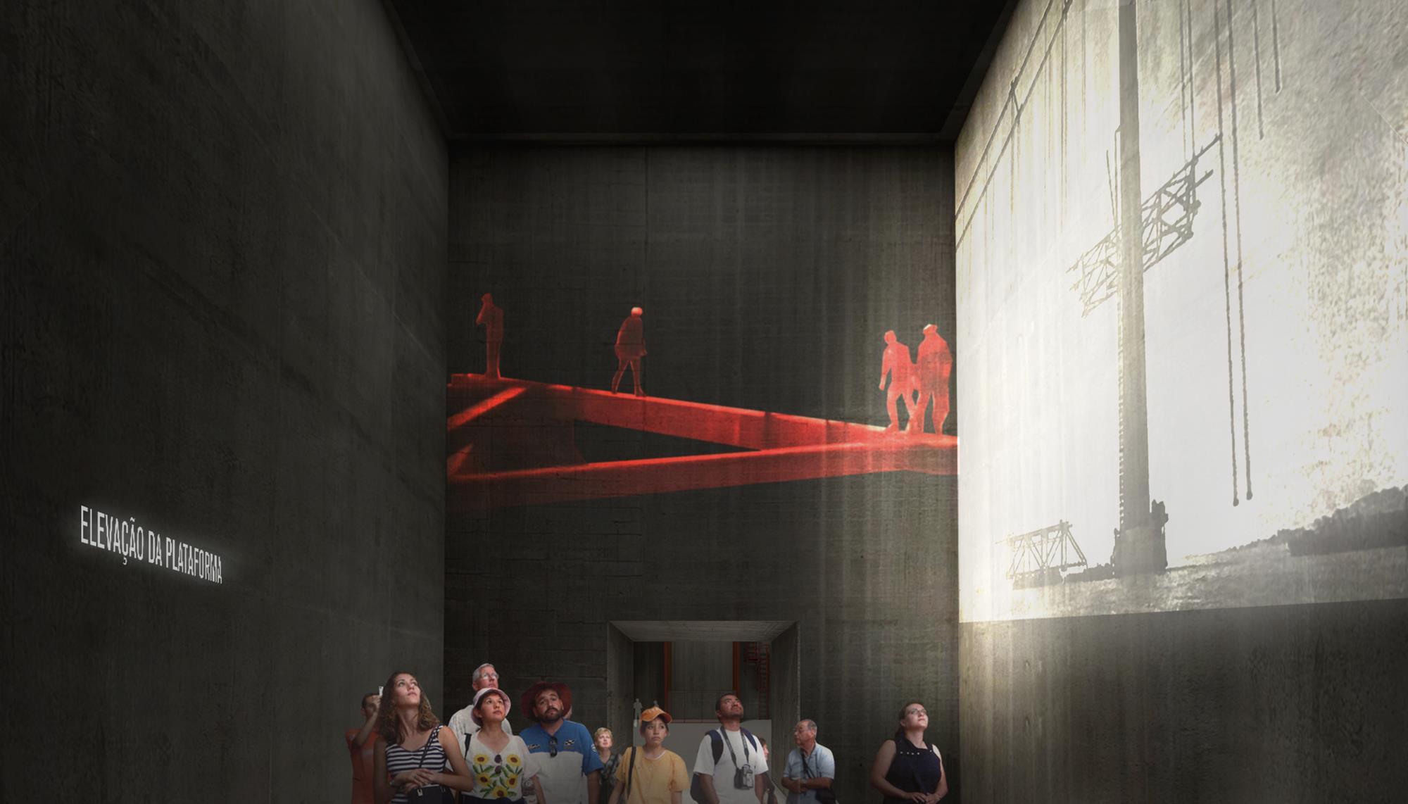 Centro Interpretativo da Ponte 25 Abril_ ©Imagens Projeto P-06 Atelier