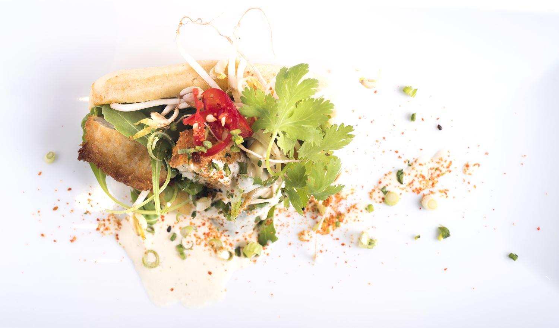 Bao de frango frito Thai Style