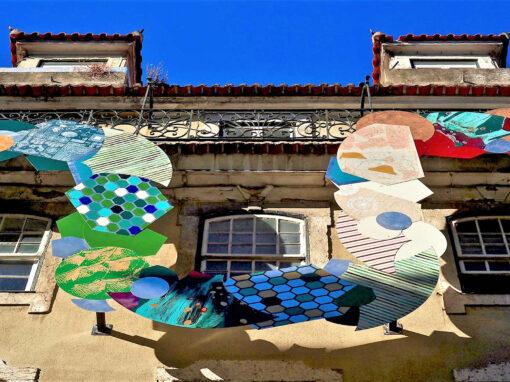 Mulher Serpente Encantada de Lisboa na Rua Rosa do Cais do Sodré